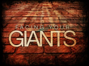 Focus on giants -- you stumble; focus on God -- your giants tumble.