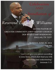 Pastor LaCedric Williams