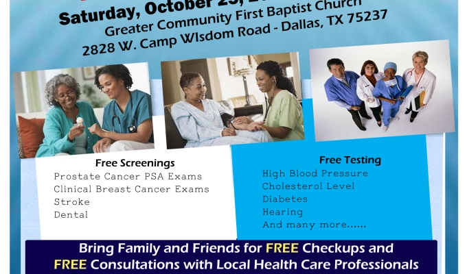 Your Health is Important To Us…. GCFBC 2nd Annual Health Fair